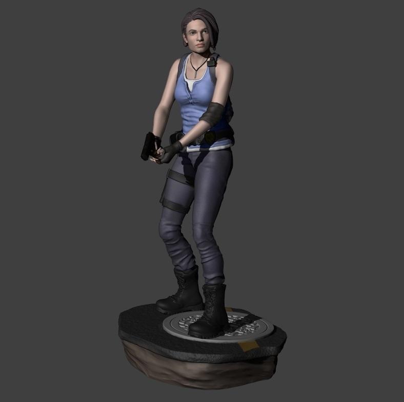 Download Stl Files Jill Valentine Resident Evil 3 Remake With 2