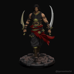 r00a.png Download STL file Prince of Persia Warrior Within Statue 3D print model • Template to 3D print, ecriativo3d