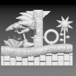 Download 3D print files Diorama Sonic in Green Hill, ecriativo3d