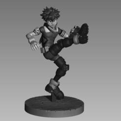 Download STL Deku Midoriya Shoot Style My Hero Academia 3D print model, ecriativo3d