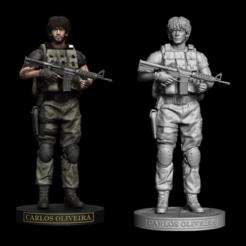 a.png Download STL file Carlos Oliveira Resident Evil 3 Statue • 3D print template, ecriativo3d