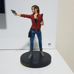 Download 3D printer model Claire Redfield Resident Evil 2 Remake Statue, ecriativo3d