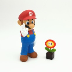 Descargar modelo 3D Fire Flower Super Mario Multicolor, ZepTo