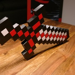 Impresiones 3D gratis Espada Minecraft XXL, ZepTo