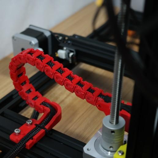 SAM_3572.JPG Télécharger fichier STL gratuit Creality CR-10S Chaîne d'entraînement de câble de l'axe Y et décharge de traction • Design à imprimer en 3D, ZepTo
