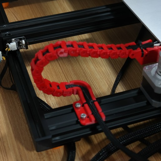 Télécharger fichier impression 3D gratuit Creality CR-10S Chaîne d'entraînement de câble de l'axe Y et décharge de traction, ZepTo