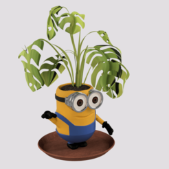 p3.png Download STL file Minion Plant Pot  • 3D printing template, ZepTo