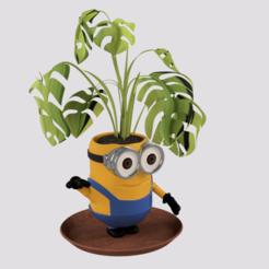 p3.png Télécharger fichier STL Pot à plantes Minion • Design à imprimer en 3D, ZepTo