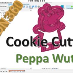 Peppa_Wutz_thumb.png Télécharger fichier STL gratuit Peppa Wutz Coupeuse de biscuits Peppa Pig • Objet imprimable en 3D, ZepTo