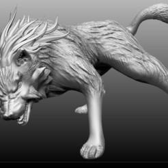 Wolf3.jpg Télécharger fichier STL Wolf Midna Zelda 3D • Plan pour impression 3D, MKCreative