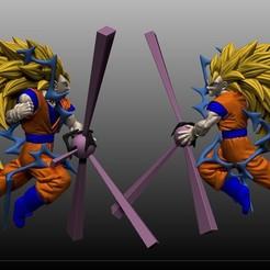 Descargar archivo 3D Goku SSJ3, MKCreative