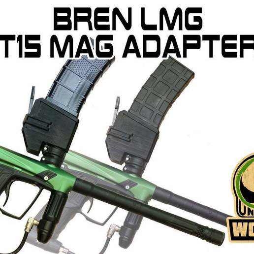 Download free STL file T15 Universal Magazine Adapter Bren LMG Style • 3D printing template, UntangleART