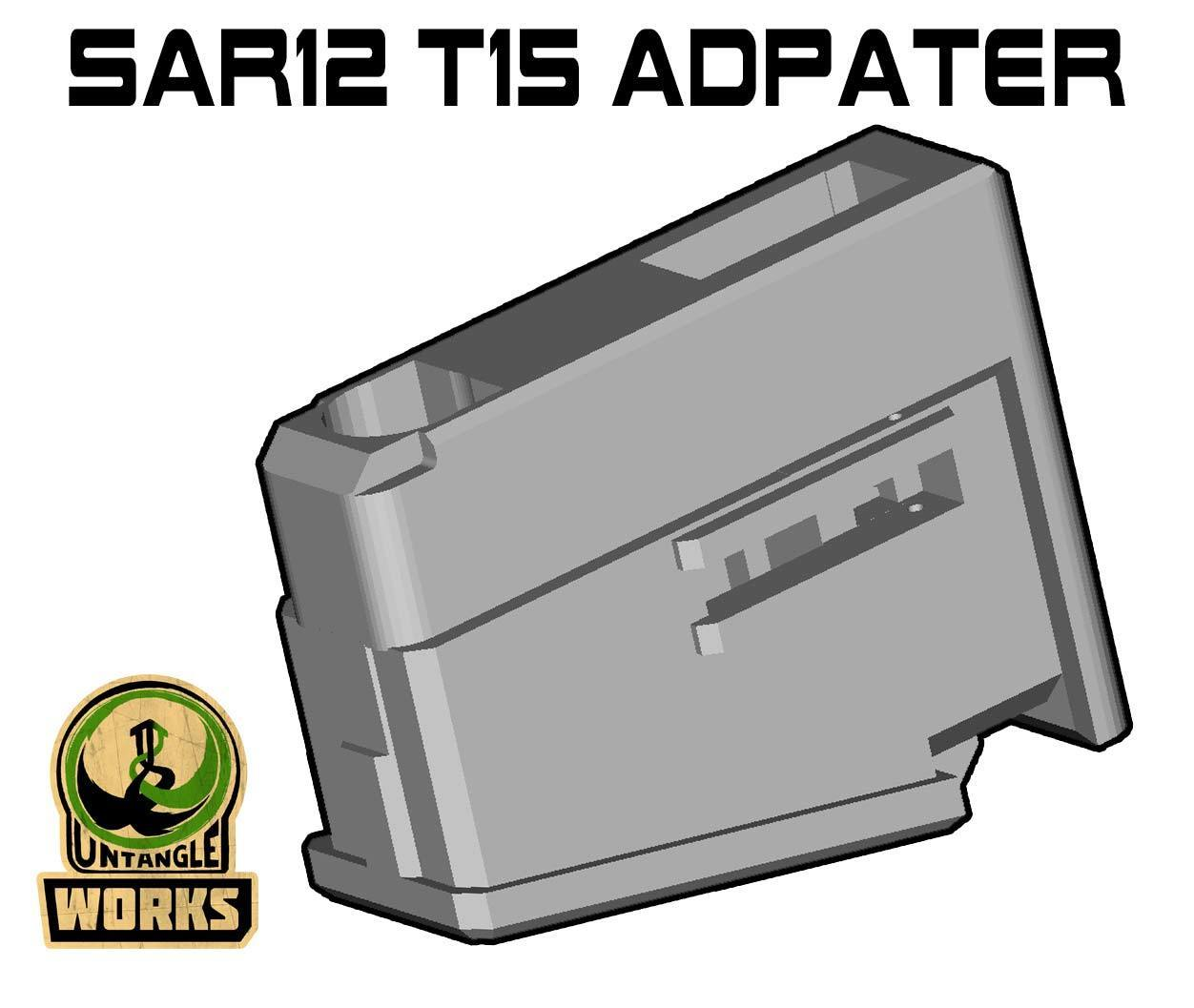 SAR12-T15.jpg Download free STL file SAR12 to T15 Mag Adapter • 3D printing template, UntangleART