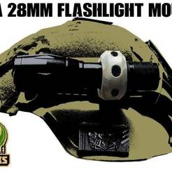 H_R_v.jpg Download free STL file FMA 28mm Flashlight Mount • 3D printable template, UntangleART