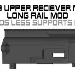 Download free 3MF file FGC9 Upper Receiver Long Rail NLS MOD • 3D print object, UntangleART