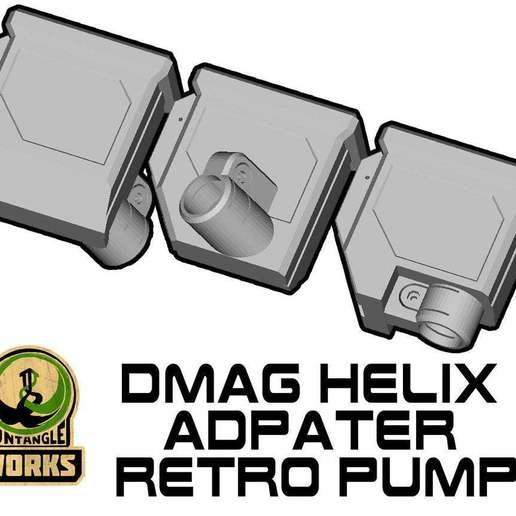 DMAG-TOP-MA-RETRO.jpg Télécharger fichier STL gratuit DMAG Helix Adapter Maverick, Trracer pump paintball • Objet imprimable en 3D, UntangleART