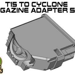 T15_CY_side.jpg Download free STL file T15 cyclone Magazine Adapter side • 3D printer model, UntangleART