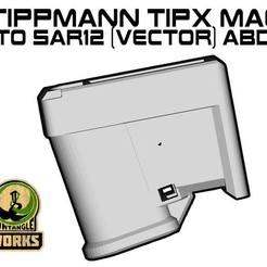 TIPX-toSAR12-ABD-VEC.jpg Download free STL file Tippmann TiPX vector ABD model Mag to SAR12 Adapter • 3D printing object, UntangleART