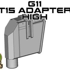 T15_MA_H_HIGH.jpg Download free STL file T15 Universal Magazine Adapter high • 3D print model, UntangleART