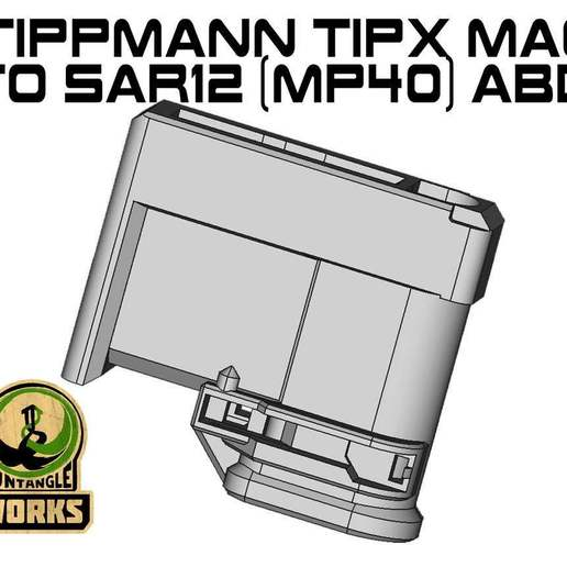 TIPX_toSAR12_ABD_MP40.jpg Download free STL file Tippmann TiPX MP40 ABD model Mag to SAR12 Adapter • 3D print object, UntangleART