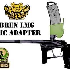 EGO_MG_w.jpg Download free STL file Tippmann TMC  Universal Magazine Adapter Bren LMG Style • 3D printing object, UntangleART