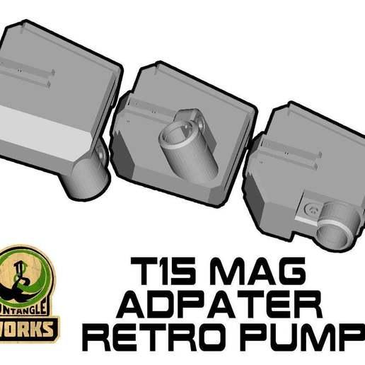 T15-TOP-MA-RETRO.jpg Download free STL file T15 Mag Adapter Maverick, Trracer pump paintball • 3D printer design, UntangleART