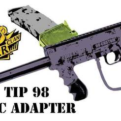 TIPWELL_d.jpg Download free STL file Tippmann TMC to TIP 98 Magazine Adapter • 3D printable template, UntangleART