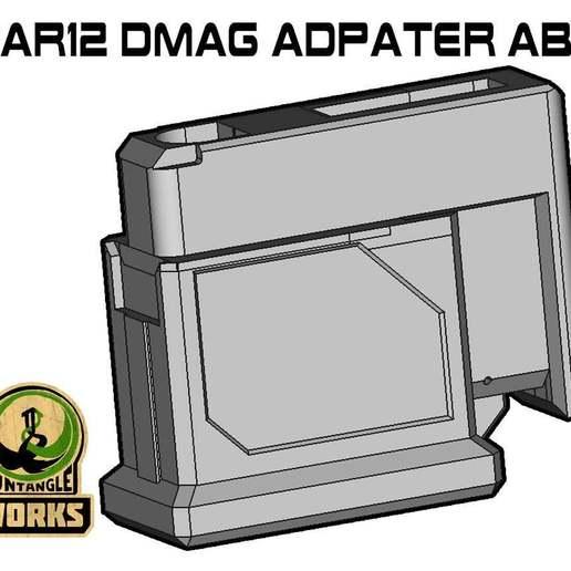 SAR12_DMAG_ABD.jpg Download free STL file SAR12 DMAG MAG adapter ABD • 3D printing design, UntangleART