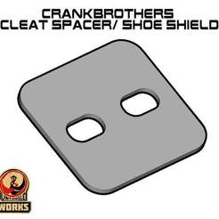 Crankbros_spacer_plate.jpg Download free STL file CrankBrothers Cleat spacer/ shoe shield • 3D printing model, UntangleART