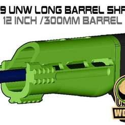 Download free STL FGC-9 UNW Long barrel shroud set, UntangleART