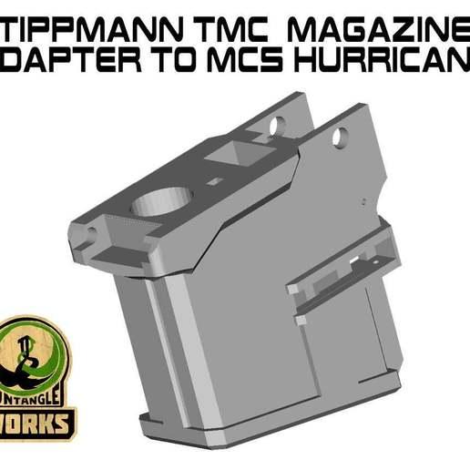 Huricane_TMC.jpg Download free STL file Tippmann TMC to MCS hurricane Adapter • 3D printing design, UntangleART