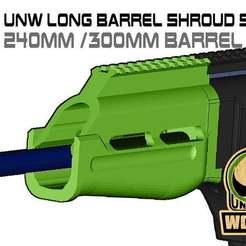 Download free STL FGC-9 UNW Long barrel Short shroud set, UntangleART