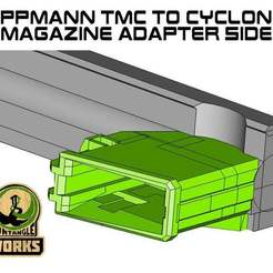 Download free 3D printing designs Tippmann TMC to cyclone Magazine SIDE Adapter, UntangleART