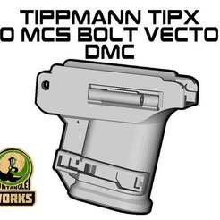 TIPX_to_MCS_BOLT_vector_DMC.jpg Download free STL file Tippmann TIPX to MCS BOLT or Blizzard Adapter Vector edition DMC • Template to 3D print, UntangleART