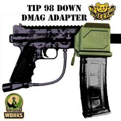 Download free STL file MCS DMAG / HELIX to Tippmann 98 Magazine down • 3D print model, UntangleART