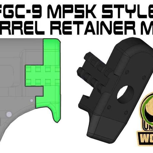 Télécharger STL gratuit FGC-9 MP5K, dispositif de retenue du canon mod, UntangleART