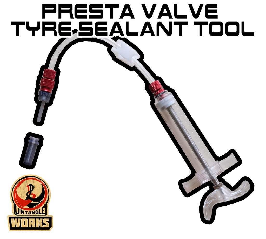 Tyre_sealant_tool.jpg Télécharger fichier STL gratuit Outil d'étanchéité des pneus Presta Valve • Plan à imprimer en 3D, UntangleART