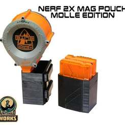 Download free 3D printing files Nerf 1x or 2x Mag pouch molle edition, UntangleART