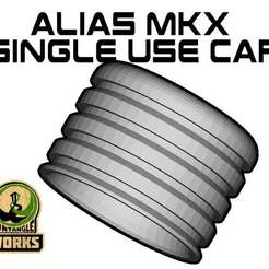 Alias_MKX_SU_cap.jpg Download free STL file Alias MKX single use caps • 3D printer object, UntangleART