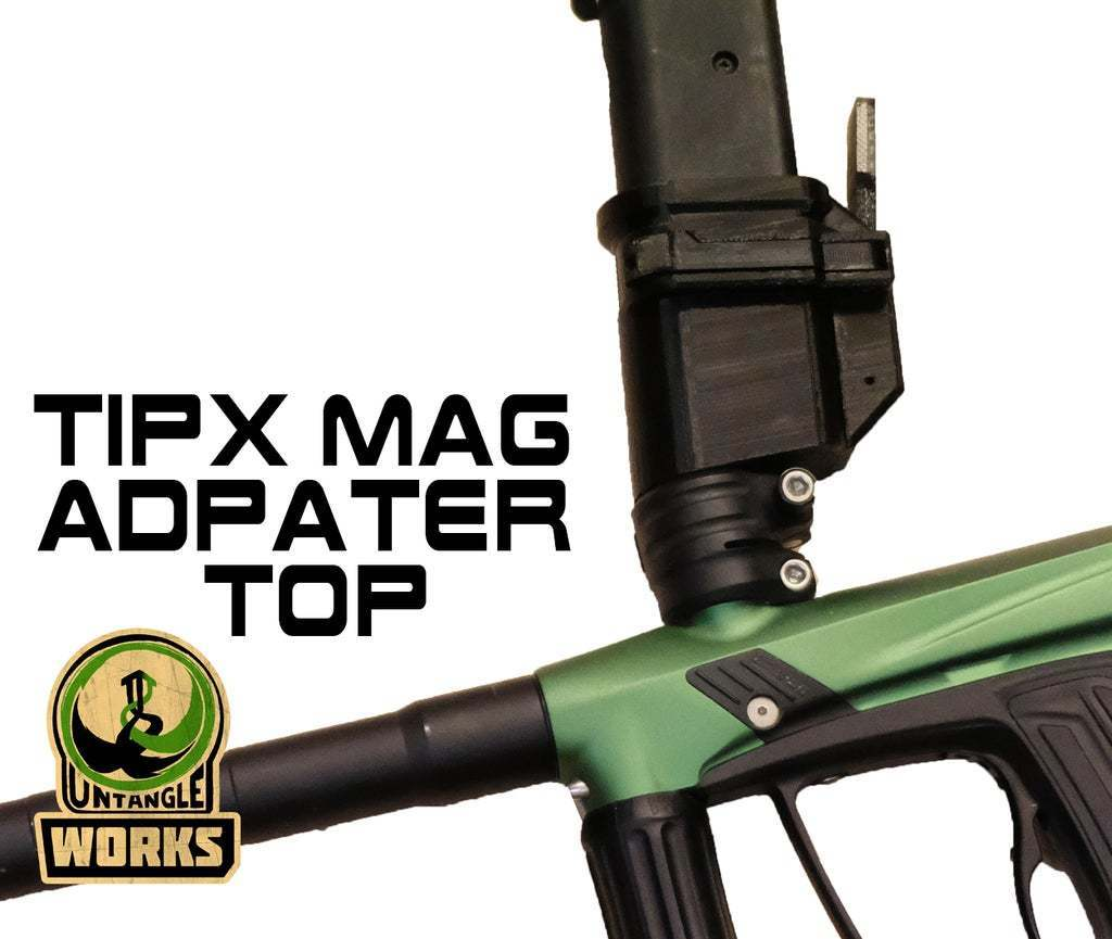 TIPX_TOP_MA.jpg Download free STL file Tippmann TiPX Mag Adapter TOP • Design to 3D print, UntangleART