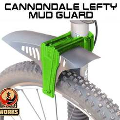 MUD-GUARD.jpg Download free STL file Cannondale LEFTY MUD GUARD • 3D printer object, UntangleART