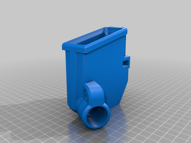 T15_magwell_PUMP_M3.png Download free STL file T15 Mag Adapter Maverick, Trracer pump paintball • 3D printer design, UntangleART