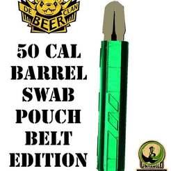 Télécharger fichier imprimante 3D gratuit paintball 50 cal baril écouvillon étui de ceinture porte-poche, UntangleART