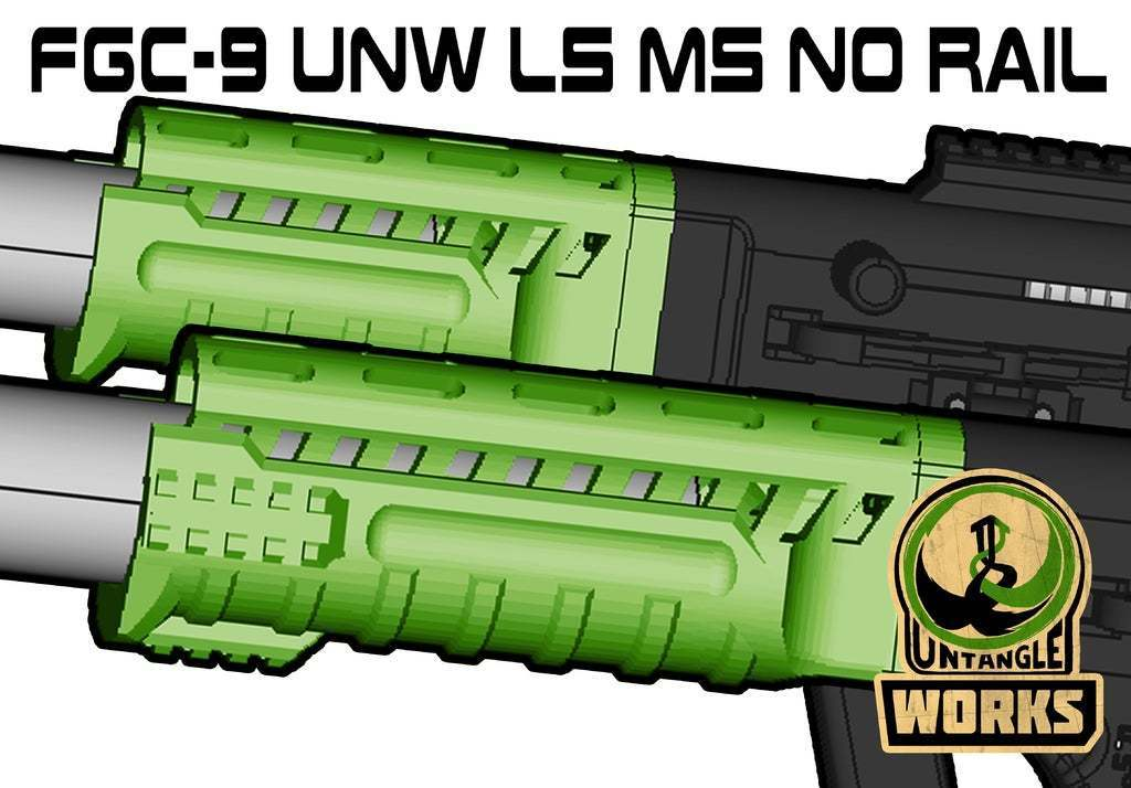UNW_NR_shroud.jpg Download free STL file FGC 9 UNW No rail Long and medium Shroud • 3D printer model, UntangleART