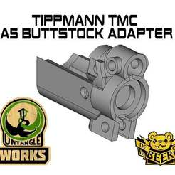 Download free STL file Tippmann TMC to A5 buttstock adapter • Model to 3D print, UntangleART