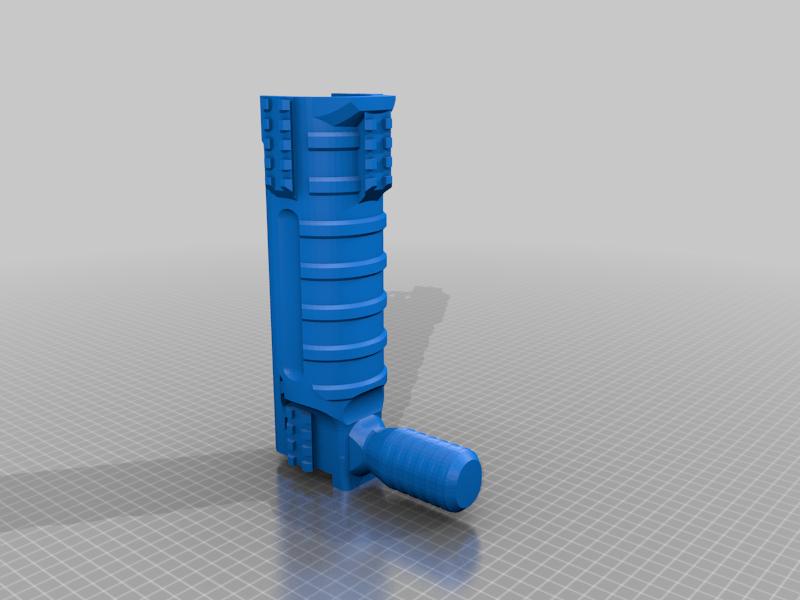 UNW_Long_shroud_NR_grip_v2.png Download free STL file FGC 9 UNW No rail Long and medium Shroud • 3D printer model, UntangleART