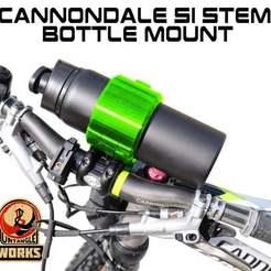 Download free STL file Cannondale SI stem Bottle Mount • 3D print design, UntangleART