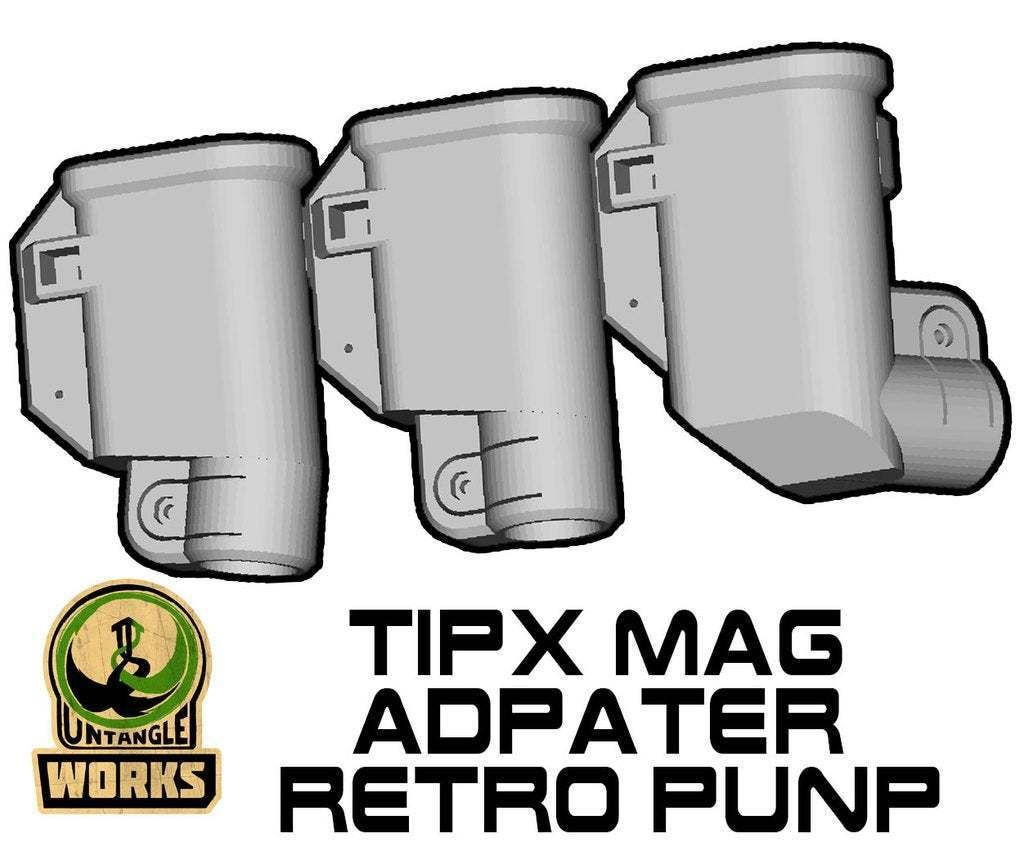TIPX-TOP-MA-RETRO.jpg Download free STL file Tippmann TiPX Mag Adapter Maverick, Trracer pump paintball • 3D printable design, UntangleART