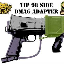 Download free STL file MCS DMAG / HELIX to Tippmann 98 Magazine side • 3D printer model, UntangleART