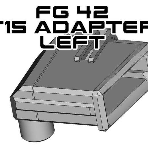 Download free STL file T15 Universal Magazine Adapter left • 3D printer template, UntangleART